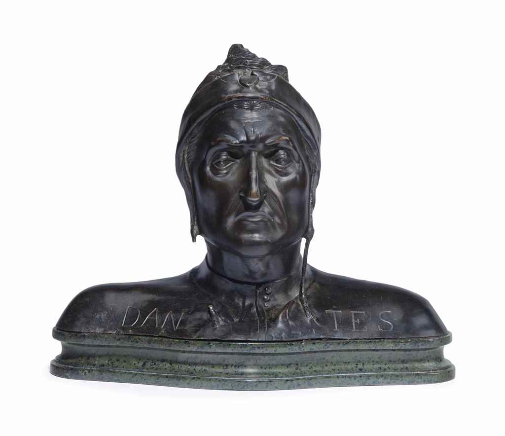 A PATINATED-BRONZE BUST OF DAN