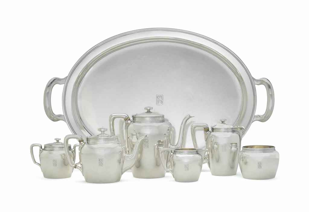 AN AMERICAN SILVER SIX PIECE T