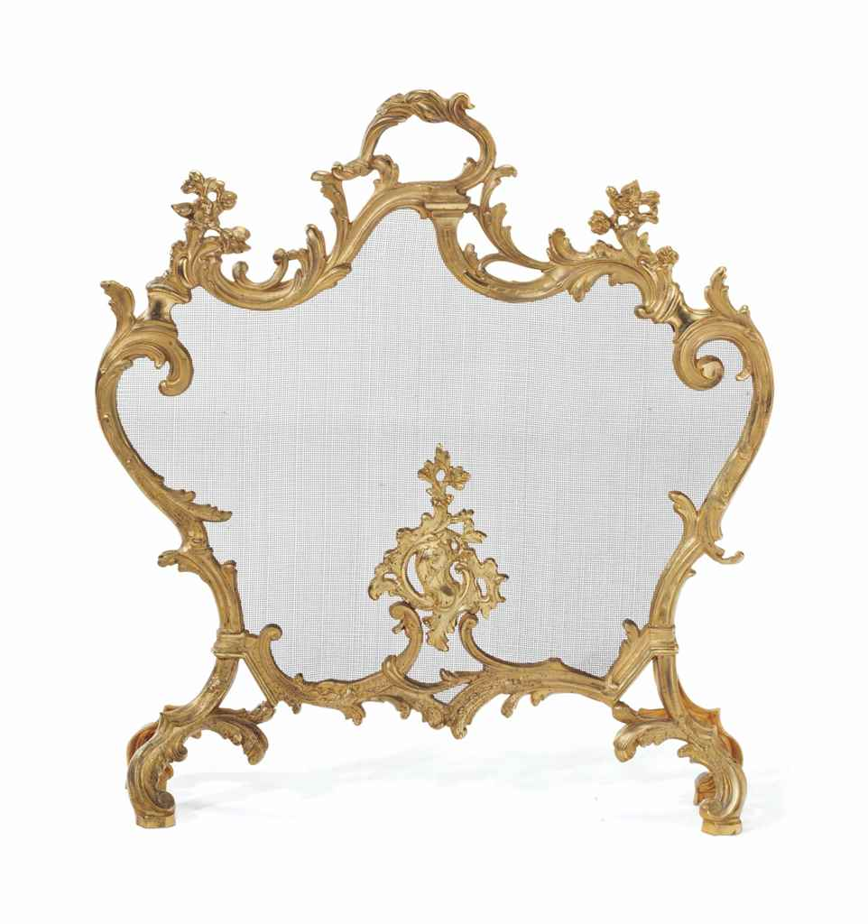 A LOUIS XV STYLE ORMOLU AND WI