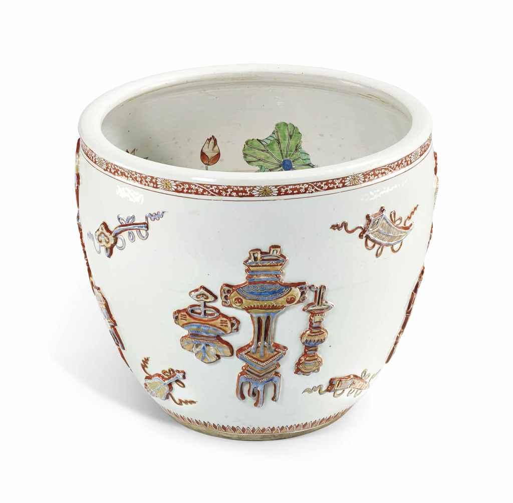Grande jarre en porcelaine imari et de la famille verte chine dynastie qing epoque kangxi for Porcelaine de chine