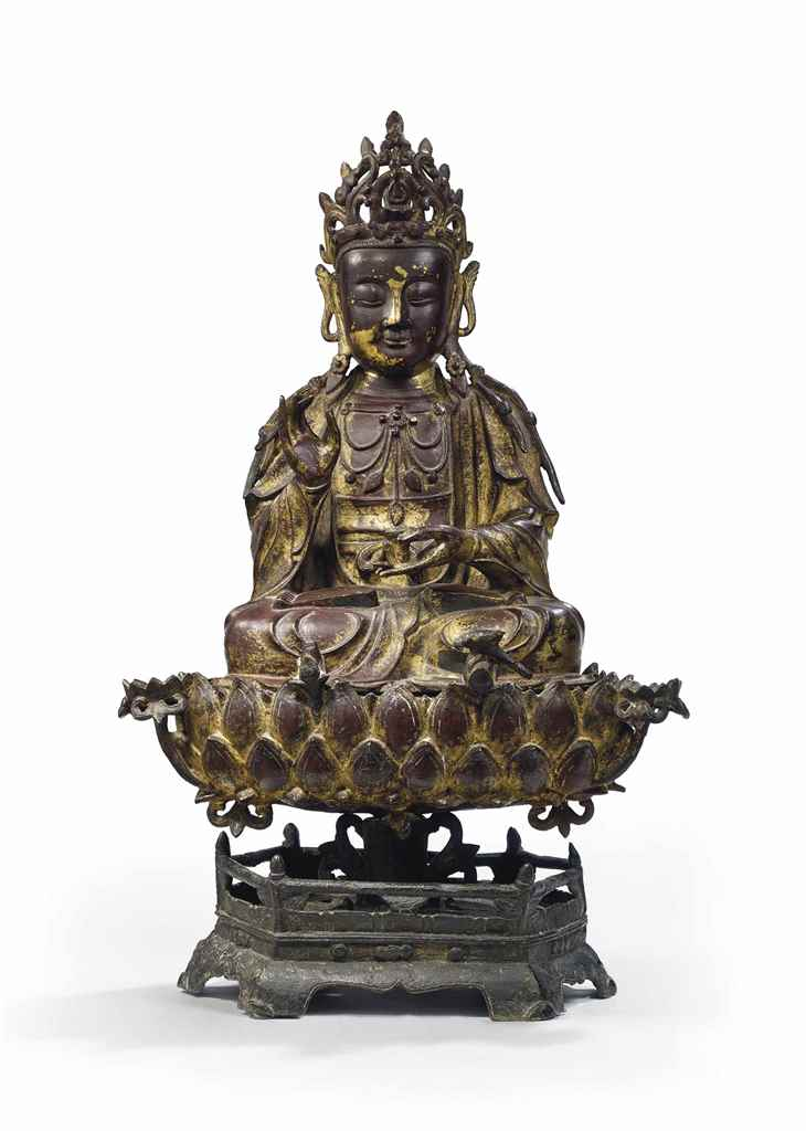 STATUE DE GUANYIN EN BRONZE DO