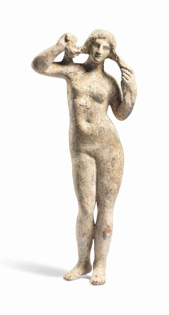 A GREEK TERRACOTTA APHRODITE A