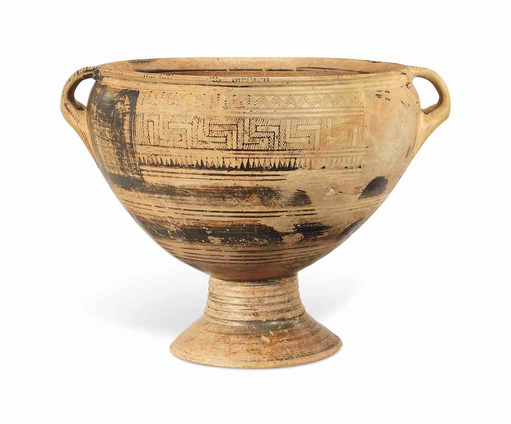AN ATTIC PEDESTALLED KRATER