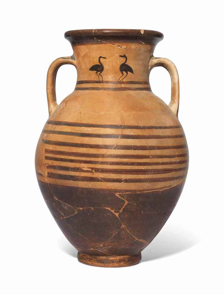 AN ATTIC POTTERY AMPHORA
