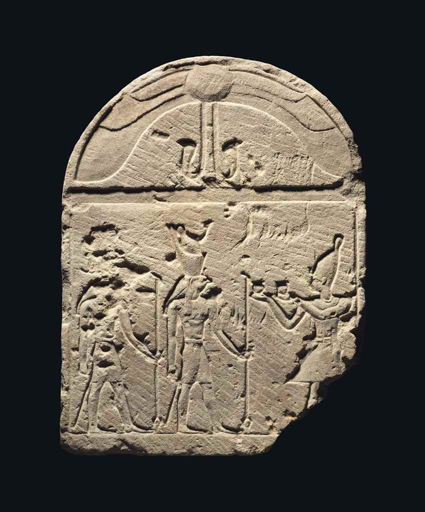 AN EGYPTIAN SANDSTONE STELE FO