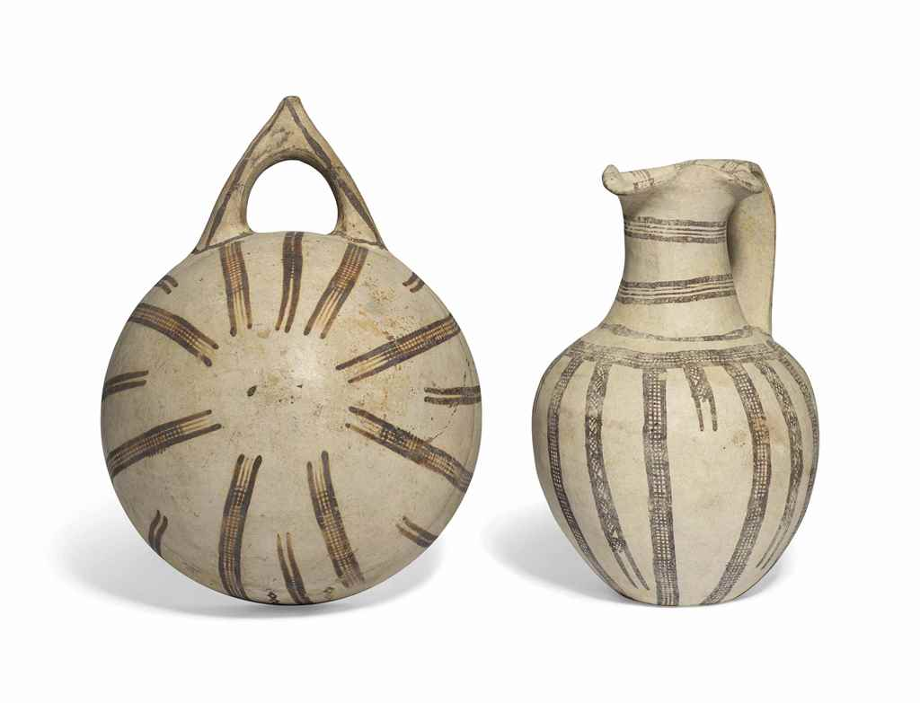 TWO CYPRIOT WHITE SLIP WARE VE