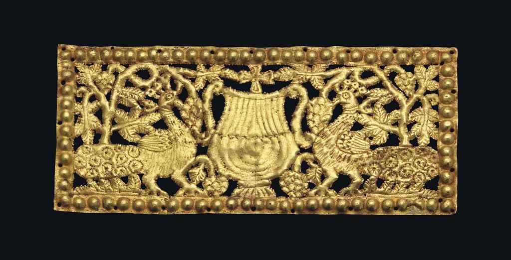 A BYZANTINE GOLD OPENWORK PLAQ