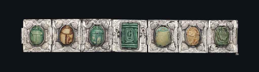 SIX EGYPTIAN GLAZED STEATITE S