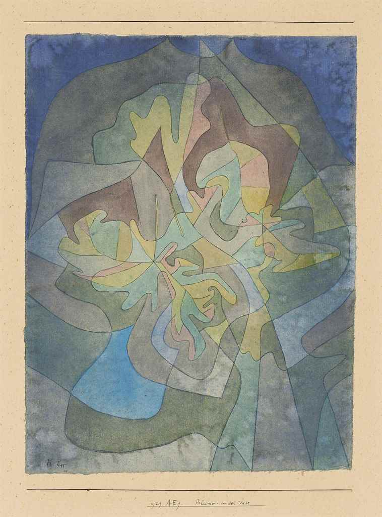 paul klee 1879 1940 blumen in der vase flowers in the vase christie 39 s. Black Bedroom Furniture Sets. Home Design Ideas