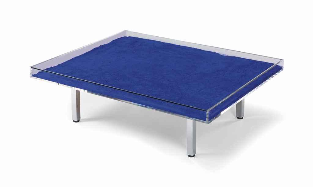 Yves klein 1928 1962 table bleue christie 39 s for Table yves klein