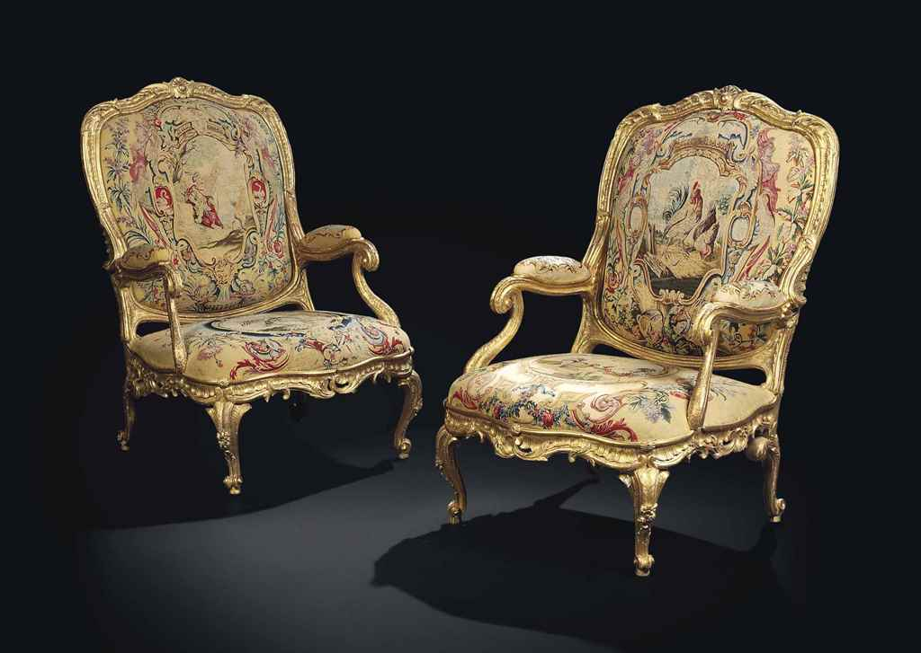A PAIR OF AUSTRIAN CARVED GILT