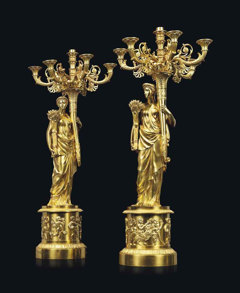 A PAIR OF CHARLES X ORMOLU SEV