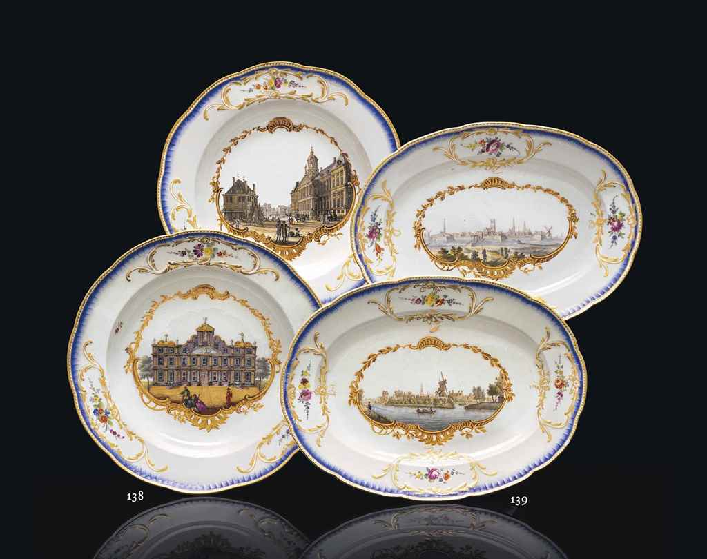 A PAIR OF MEISSEN TOPOGRAPHICA