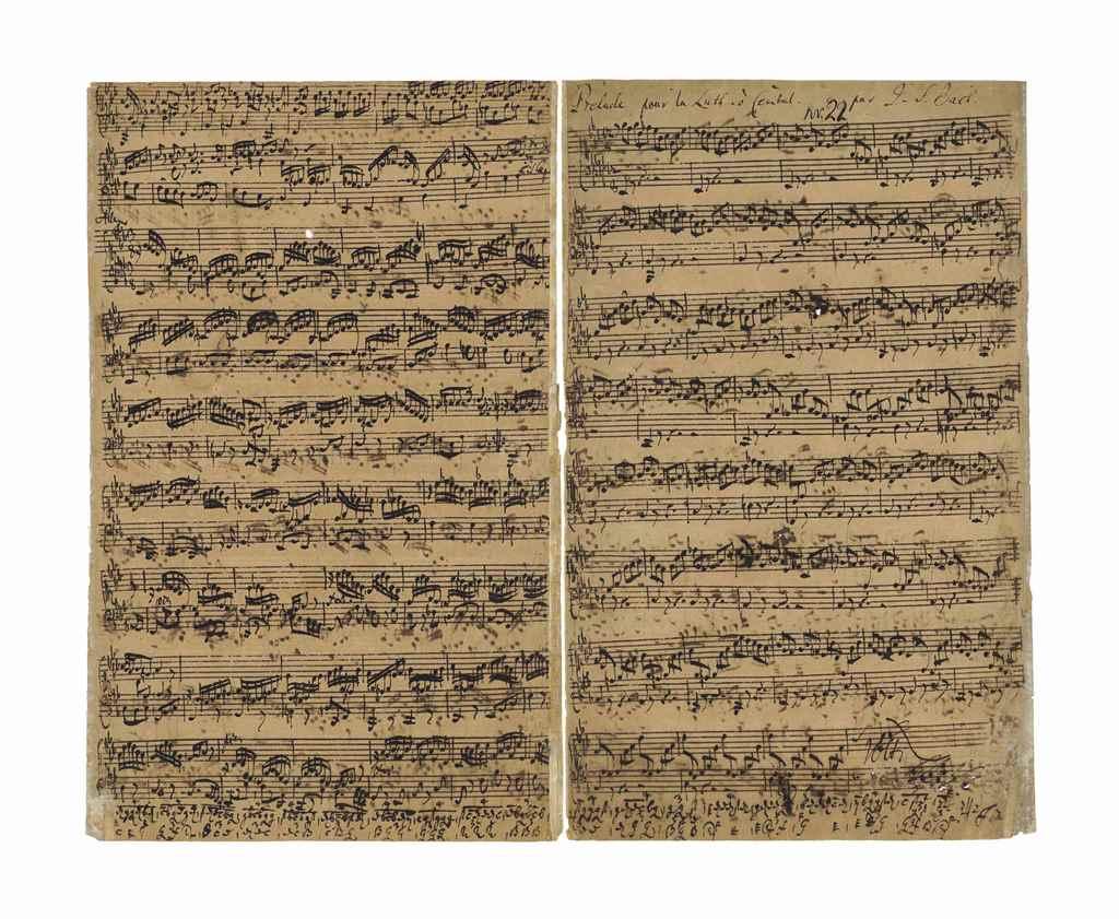 JS Bach manuscript UNT Digital Library University