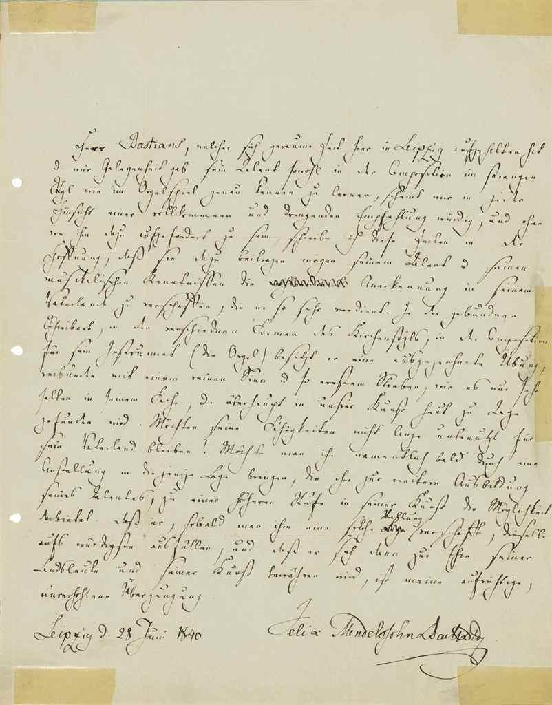 MENDELSSOHN BARTHOLDY, Felix (