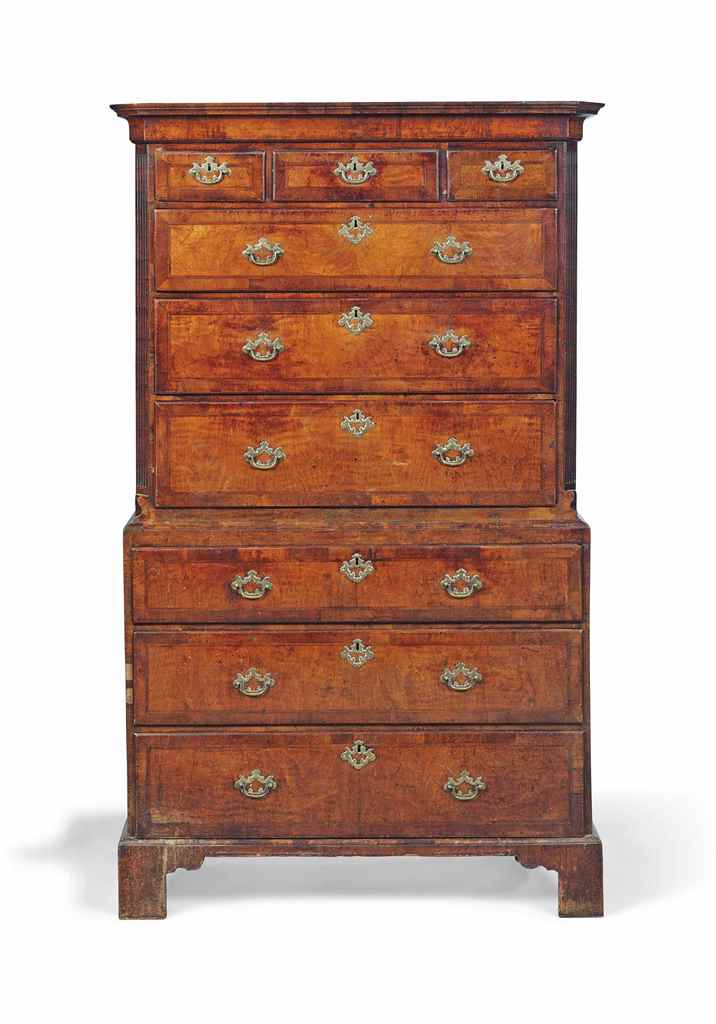 A GEORGE II WALNUT AND OAK TAL