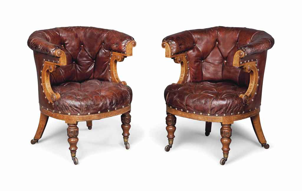A PAIR OF VICTORIAN BUTTONED-L
