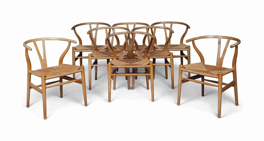 A SET OF EIGHT HANS WEGNER (19