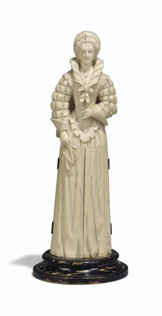 A FRENCH IVORY STATUETTE OF MA