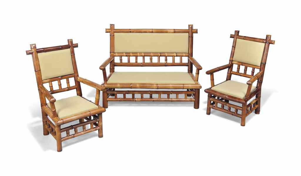 A SUITE OF FRENCH BAMBOO SEAT