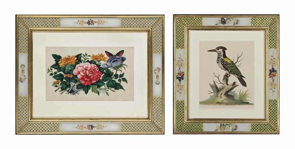 SIX HAND-COLOURED ETCHINGS FRO