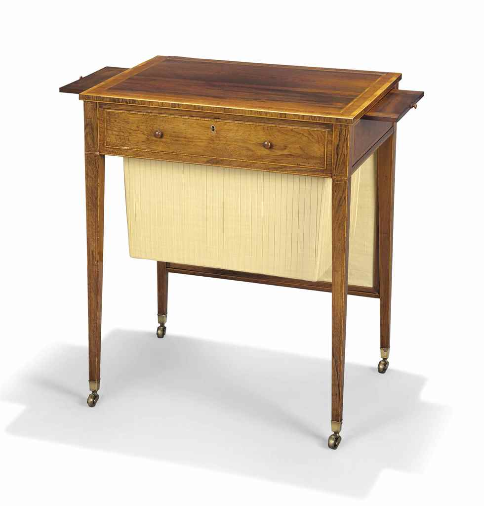 A REGENCY ROSEWOOD AND TULIPWO