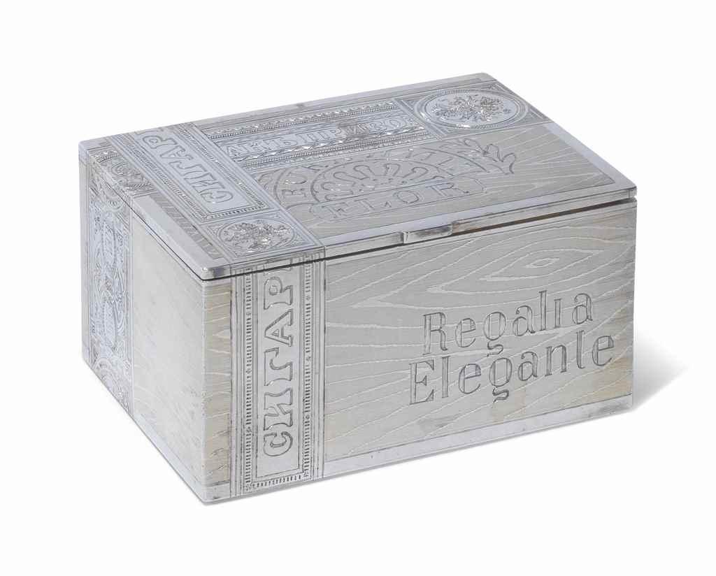 A RUSSIAN SILVER CIGAR-BOX