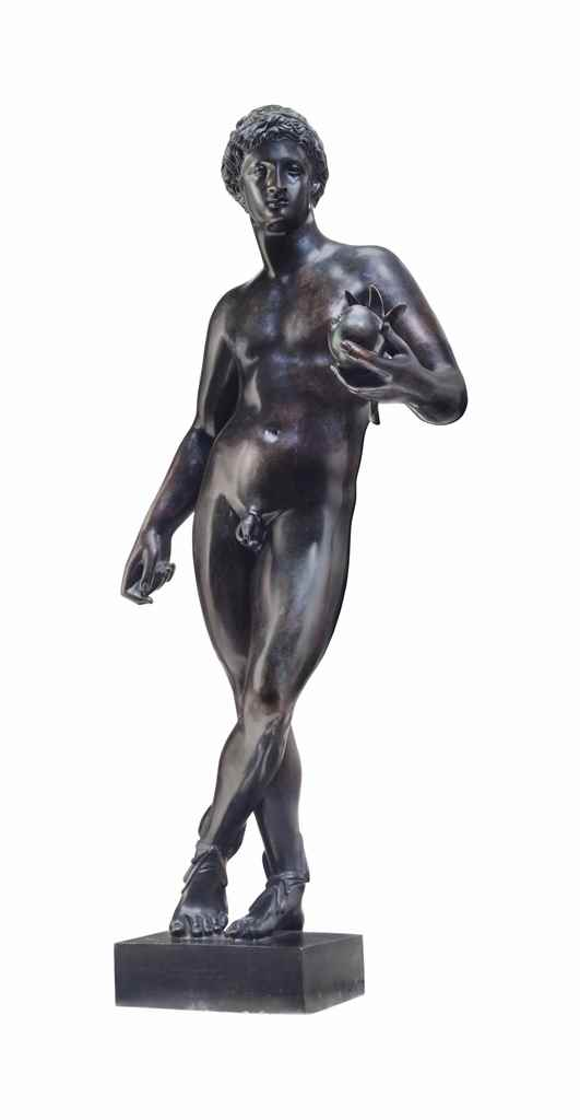 AN ITALIAN PATINATED BRONZE FI