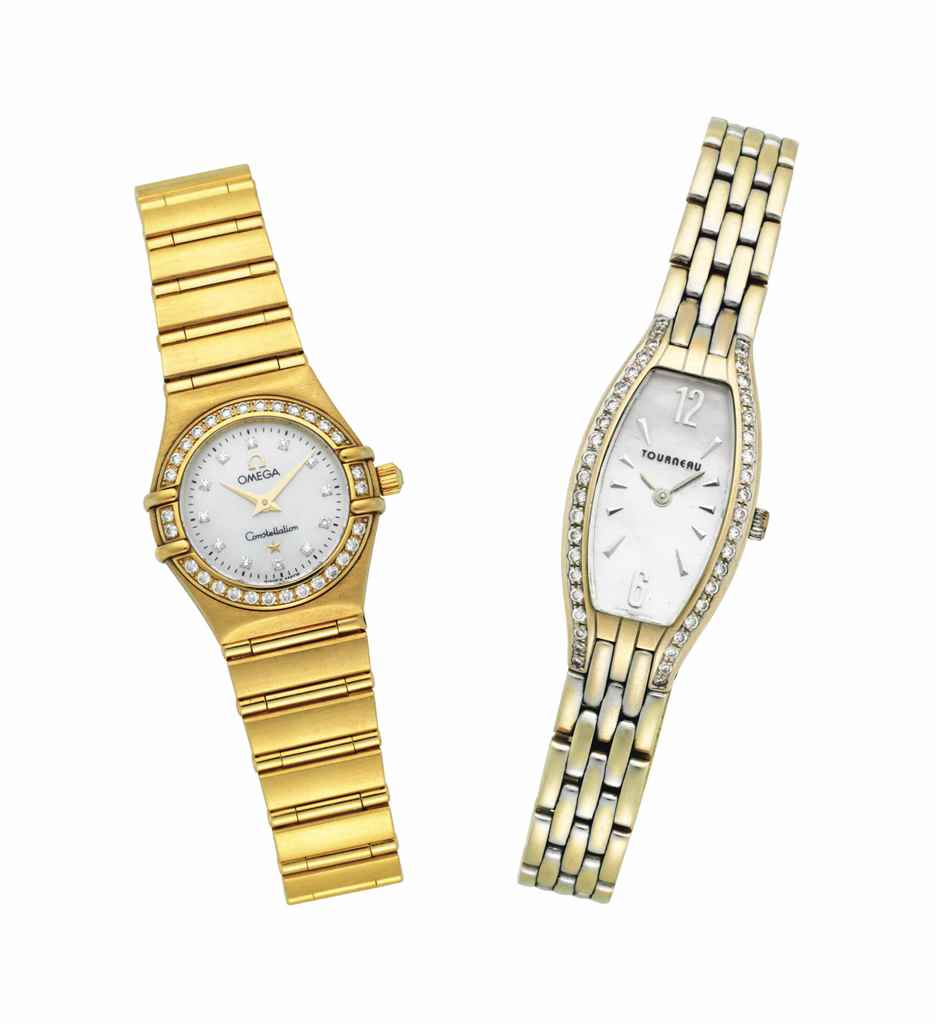 TWO GOLD LADIES WRIST WATCHES