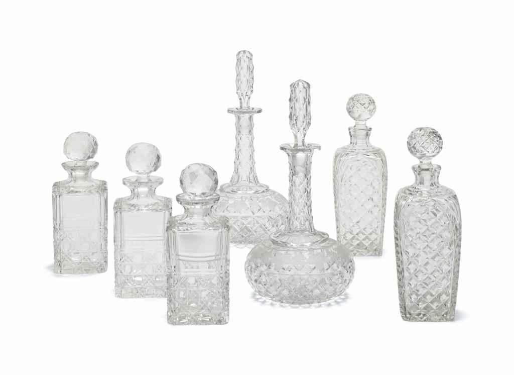 A GROUP OF SEVEN CUT-GLASS DEC