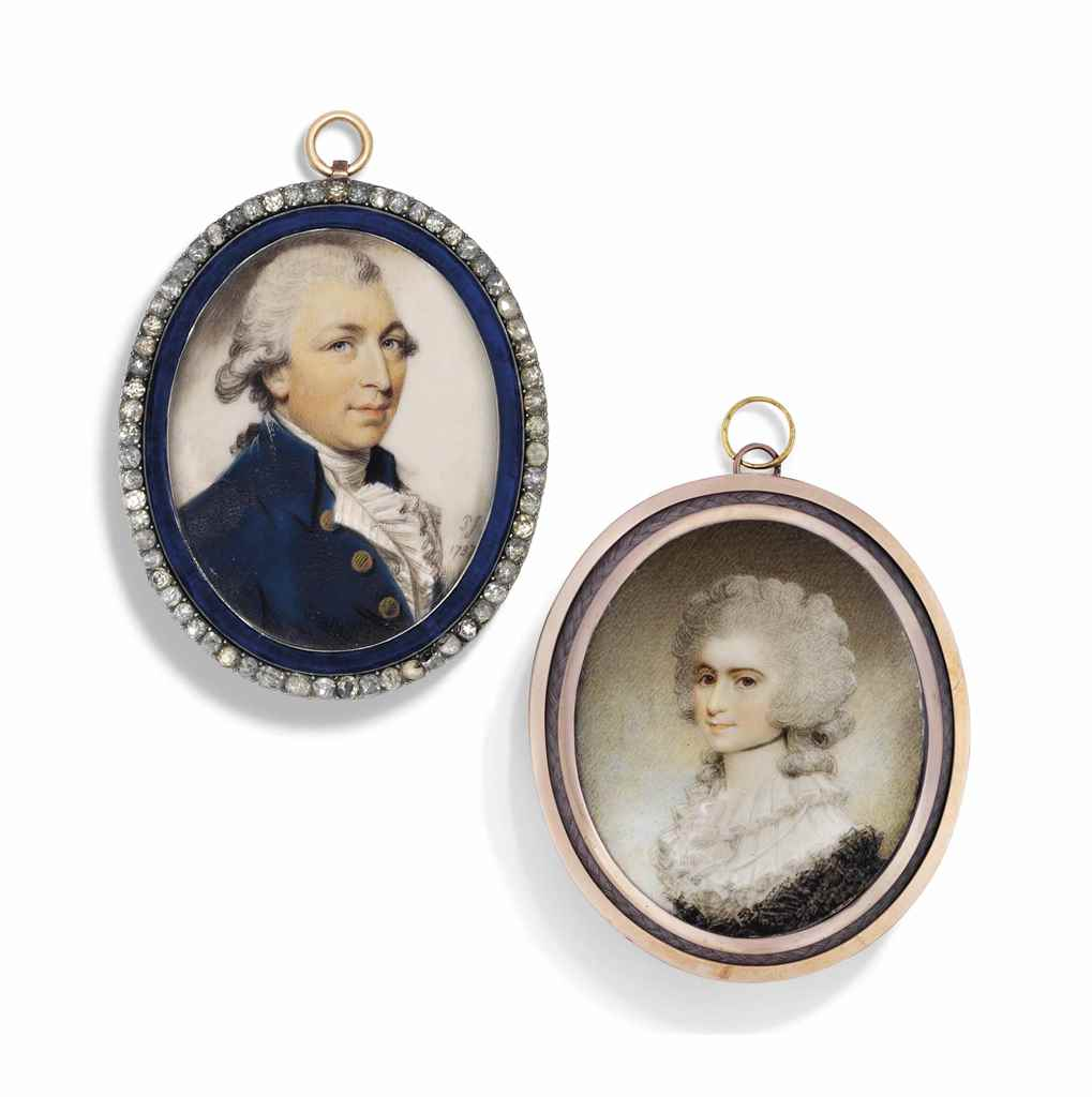 TWO 18TH CENTURY PORTRAIT MINI