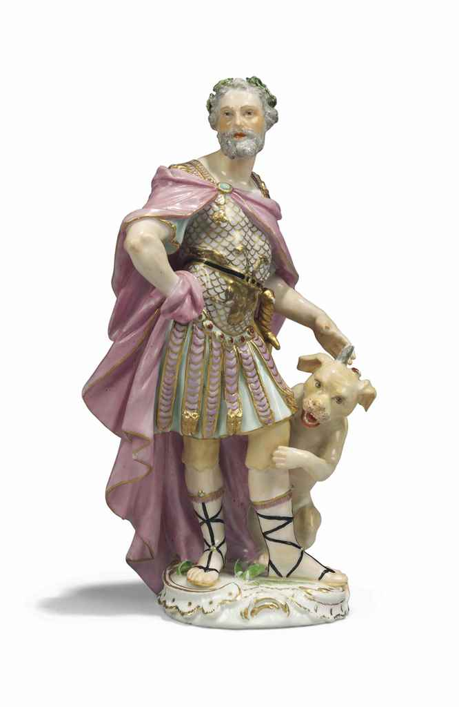 A MEISSEN FIGURE OF JULIUS CAE