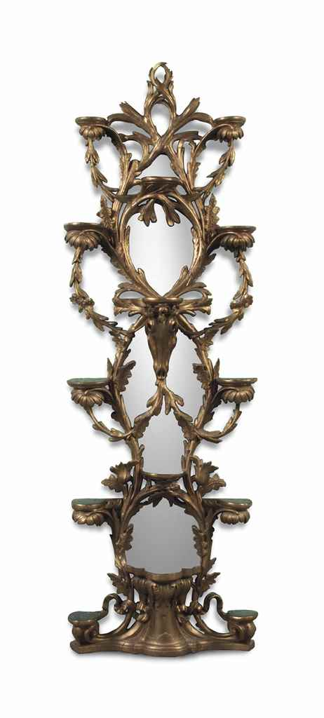 A LATE VICTORIAN GILTWOOD AND