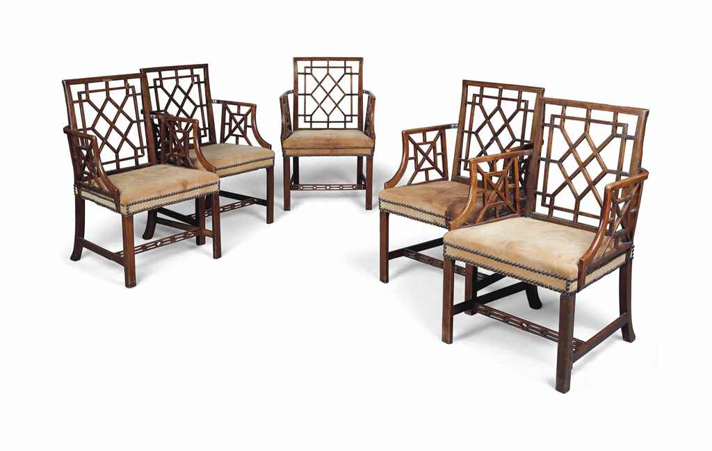 A SET OF FIVE GEORGE III ELM '