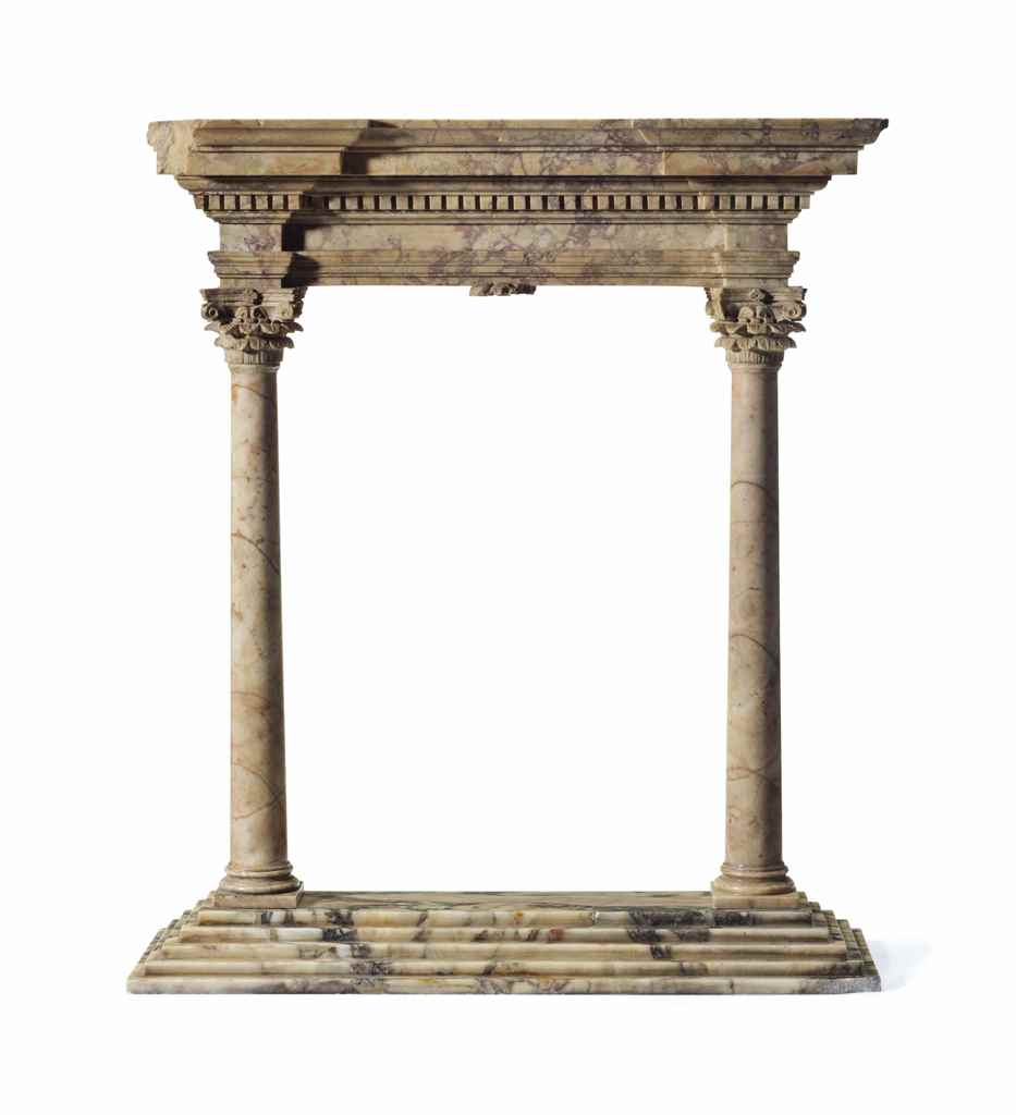A GRAND TOUR MARBLE MODEL OF A