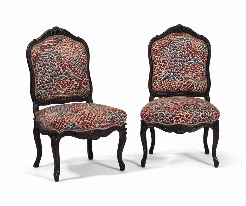 Paire de chaises a la reine de style louis xv christie 39 s for Chaises de style ancien