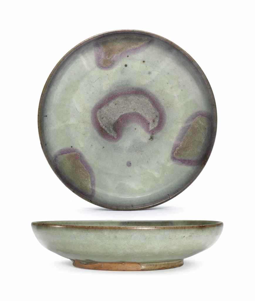 A PURPLE-SPLASHED JUNYAO DISH