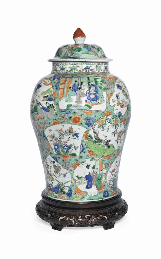 A LARGE FAMILLE VERTE JAR AND