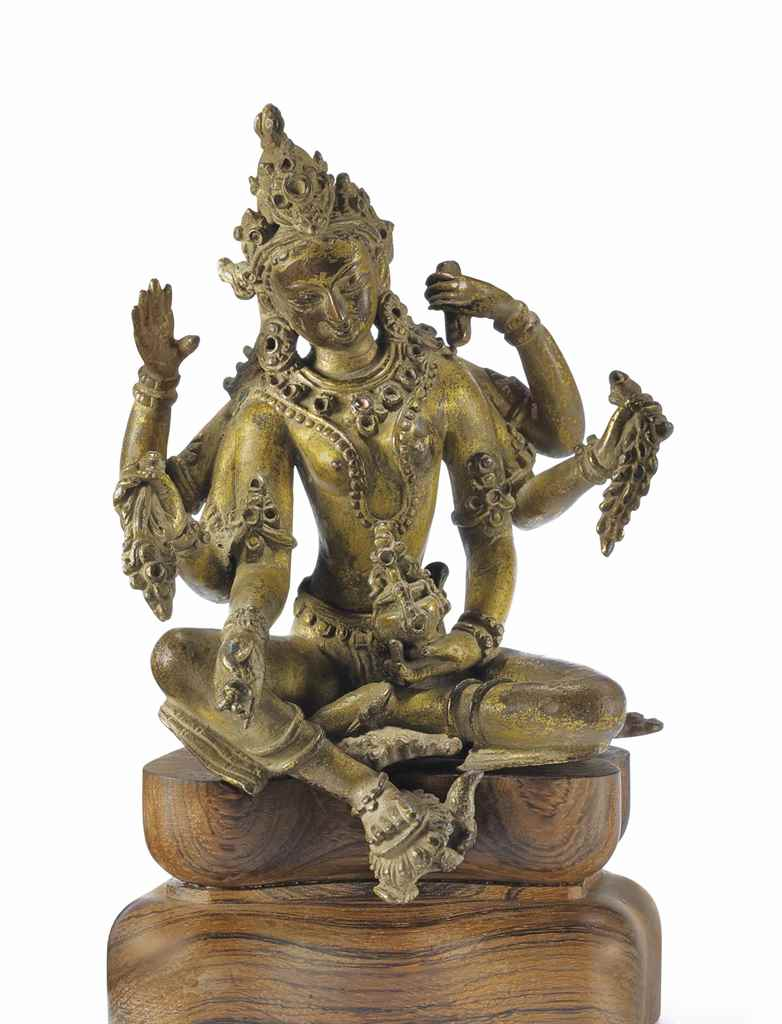 A Gilt Bronze Figure of Vasudh