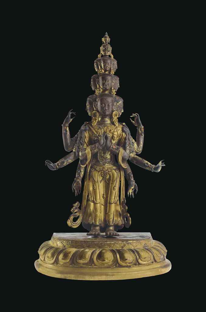 A Gilt Bronze Figure of an Ele