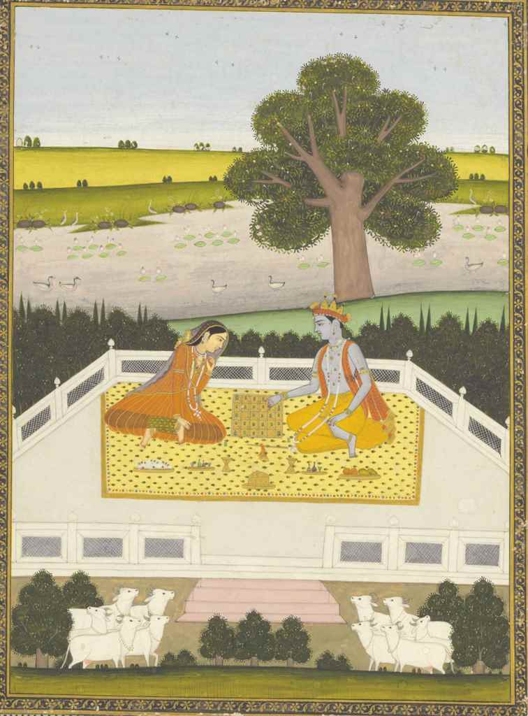 Krishna and Radha play Parchee