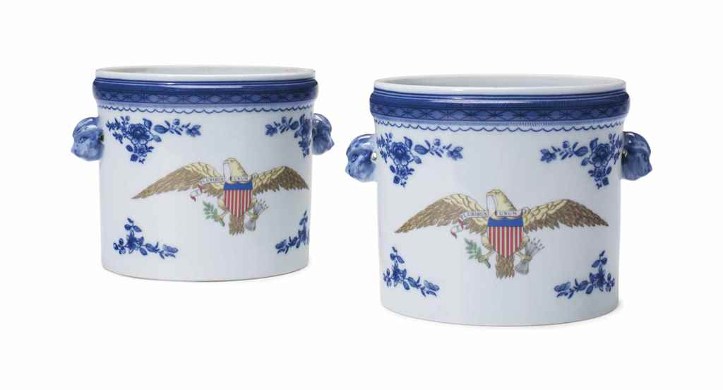 A PAIR OF MOTTAHEDEH PORCELAIN
