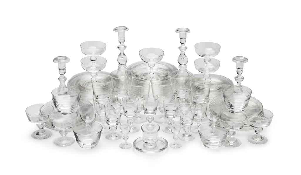 AN ASSEMBLED STEUBEN GLASS PAR