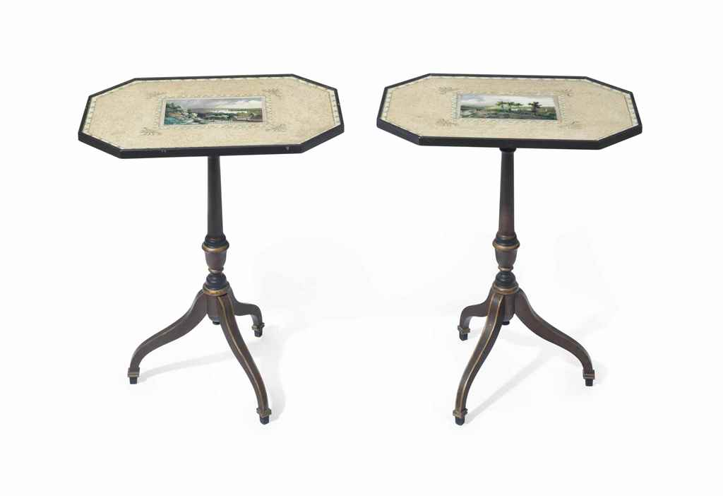 A PAIR OF REGENCY STYLE GRAIN-