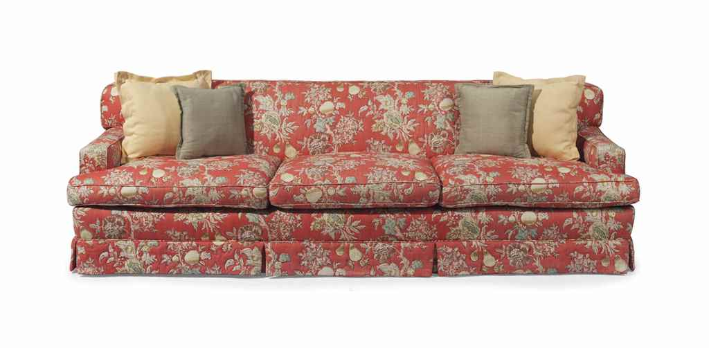 AN AMERICAN THREE SEATER SOFA