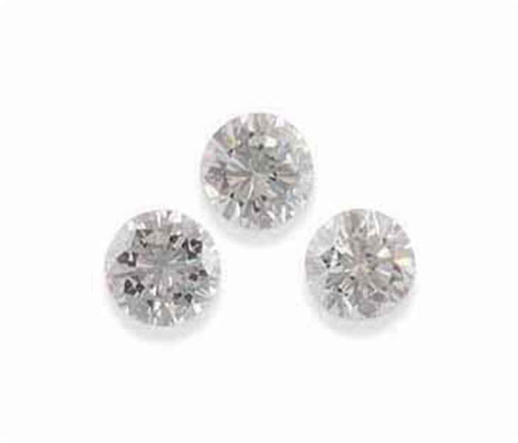 THREE LOOSE DIAMONDS