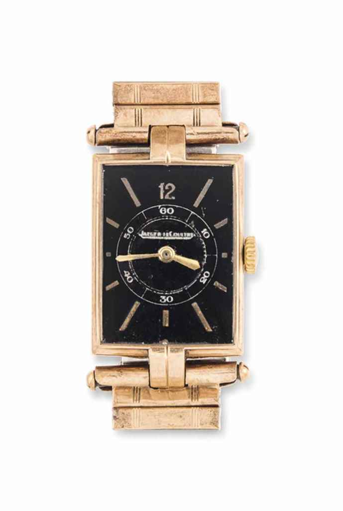 A 9CT GOLD WRISTWATCH, BY JAEG