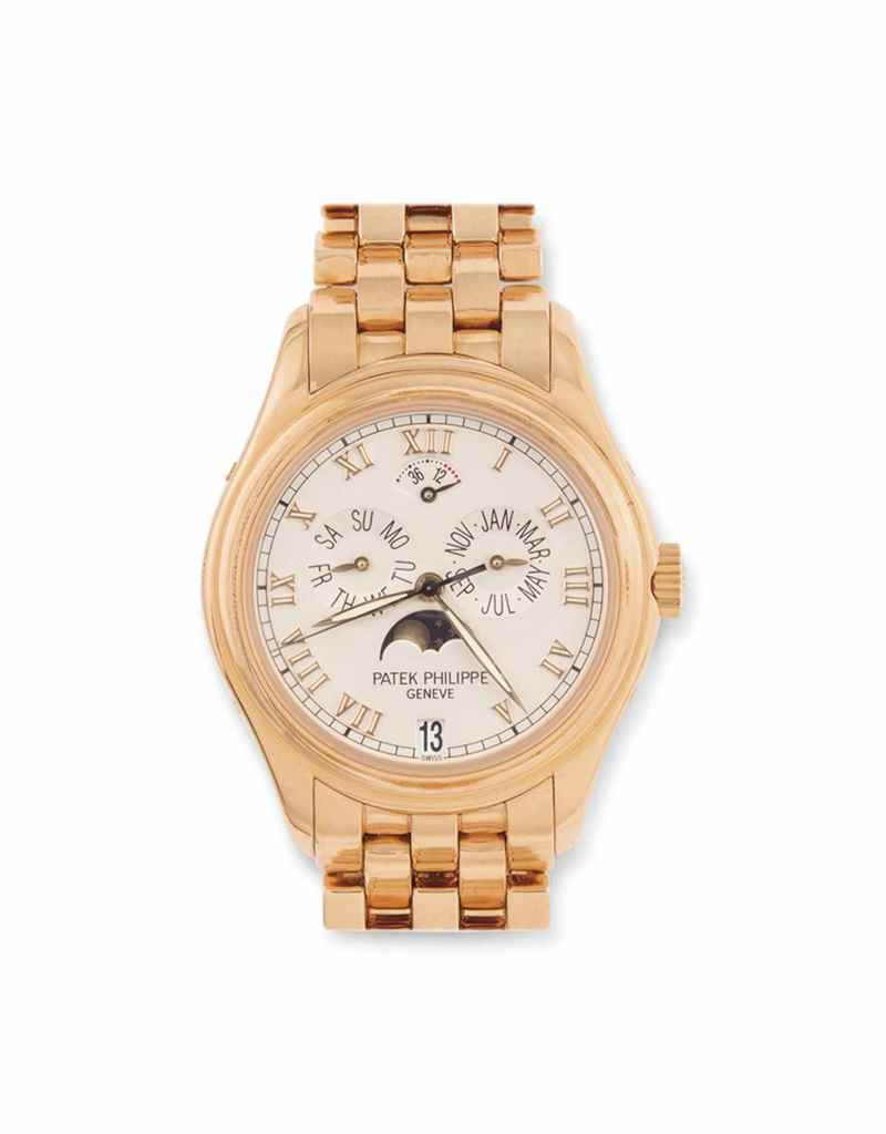 AN 18CT PINK GOLD AUTOMATIC AN