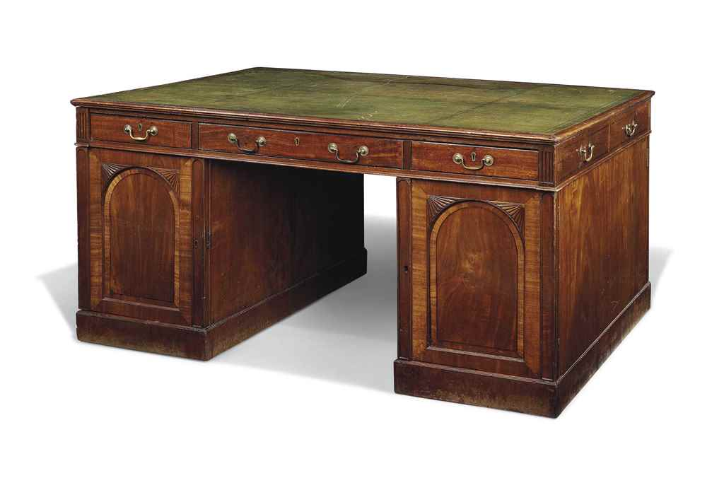 A LARGE ENGLISH MAHOGANY PARTN