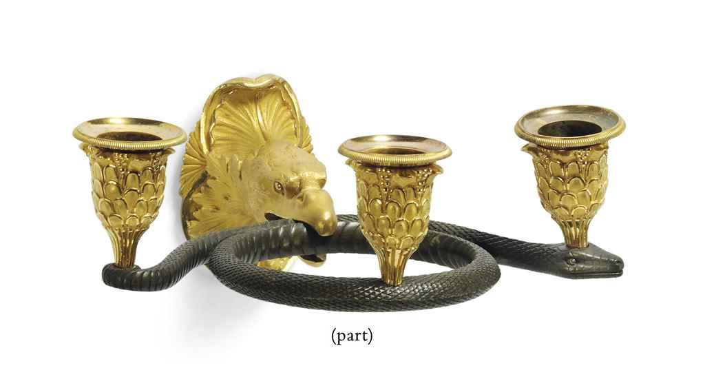 A PAIR OF FRENCH EMPIRE ORMOLU